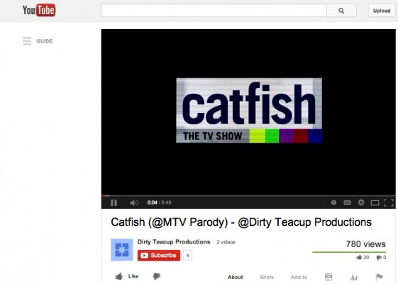 Five FCLC female students banded together to make their parodic version of MTVs Catfish: The TV Show. (Photo Courtesy of Dirty Tea Cup Productions via YouTube)