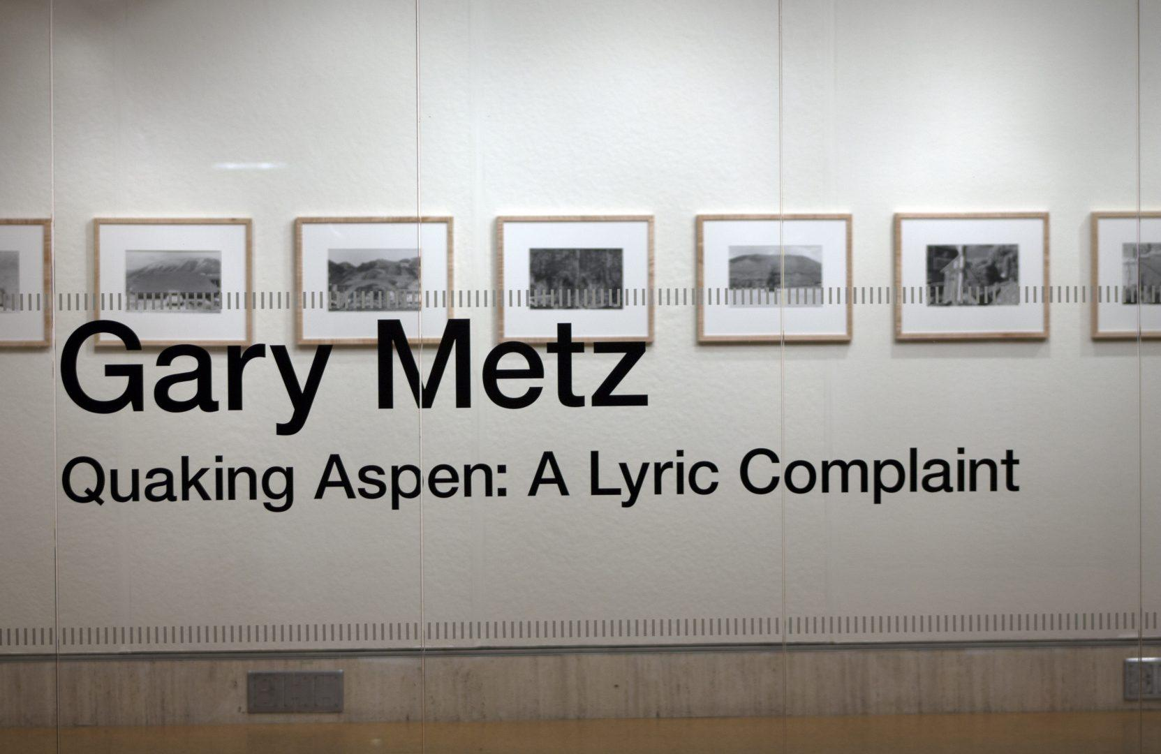 Photographer Gary Metz's Work on Display at FCLC's Butler Gallery