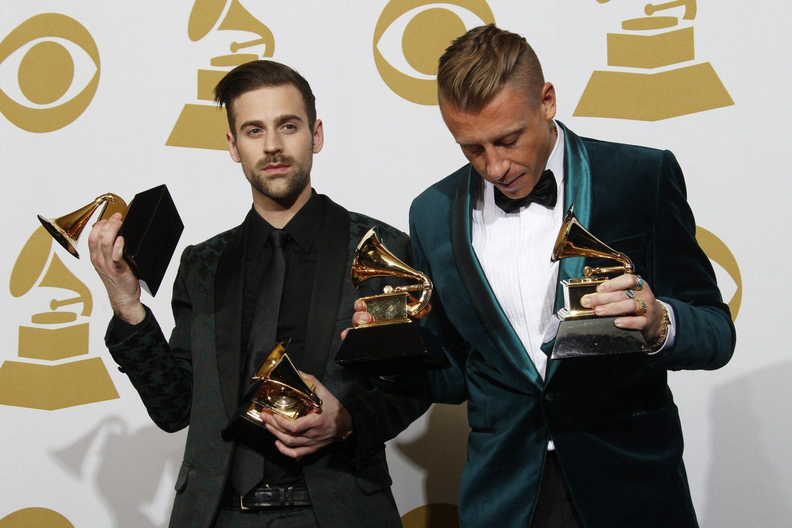 Ryan Lewis & Macklemore won four awards, including Best New Artist, Best Rap Song, and Best Rap Album (Allen J. Schaben via MCT)
