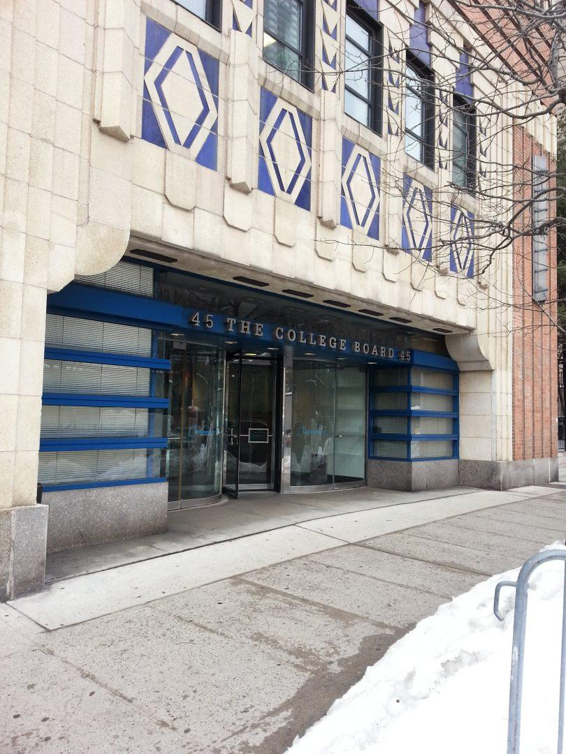 The College Board Building, located across the street of FCLC, was recently acquired by Fordham University. (Kara Jagdeo/The Observer)