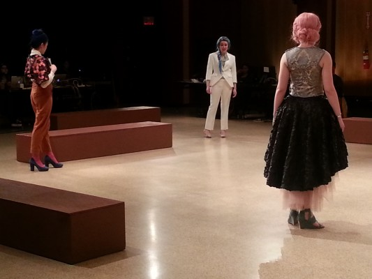From left to right: Michele Ang as Finea, Shea Kelly as Laura, Aishling Pembroke as Florela in