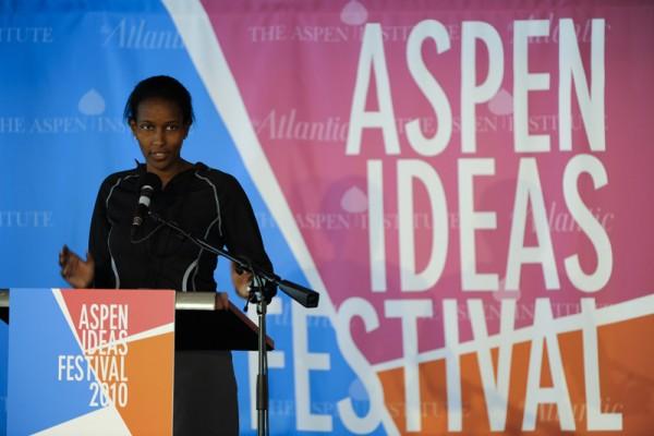 Ayaan Hirsi Ali speaks at the 2010 Aspen Ideas Festival in Aspen, Colorado. (Courtesy Aspen Institute via flickr)