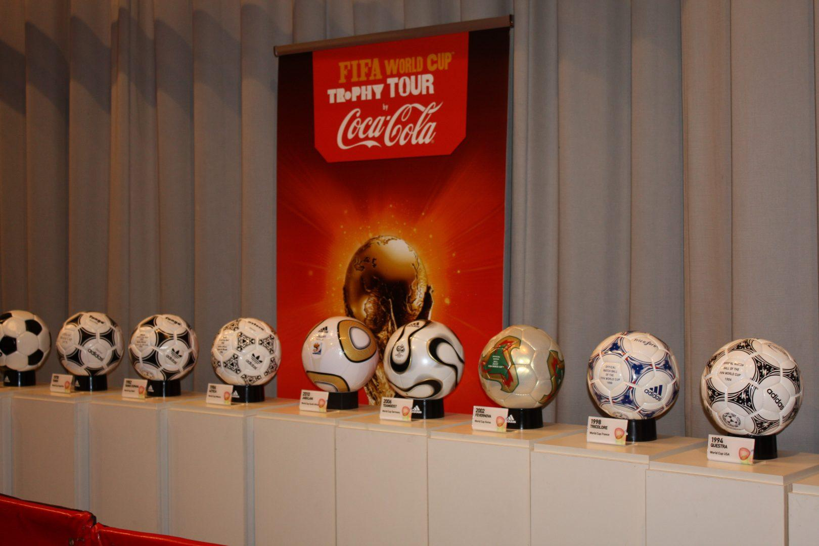 Spain, Germany, Brazil and Argentina are some favorites to win this year's FIFA World Cup.  (Courtesy coca cola south africa via flickr)