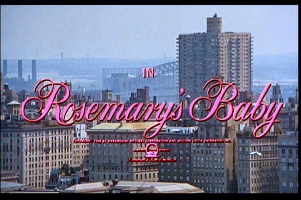 The Netflix Flick of The Week is Rosemary's Baby.