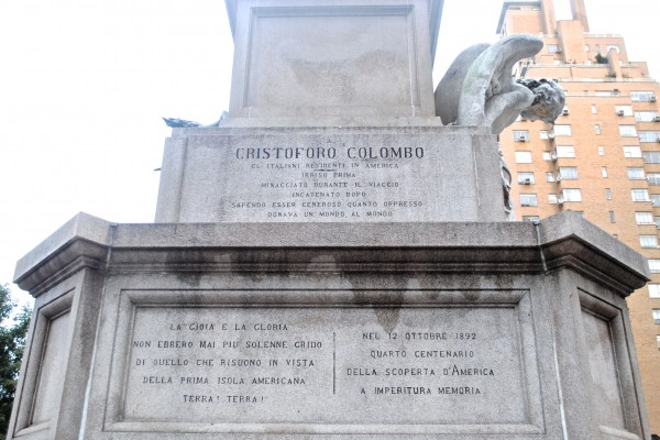 The 1892 Christopher Columbus Monument was erected to commemorate the 400th anniversary of Columbus' landing in the Americas. (Rex Sakama/The Observer)