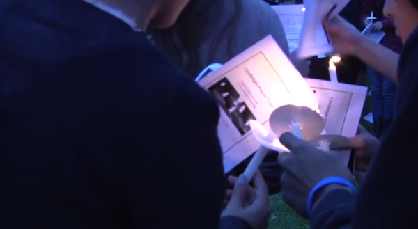 Students Hold Candlelight Prayer Vigil for Victims of Police Brutality