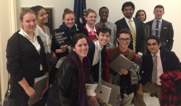 Members of FCLC's delegation to the Ignatian Family Teach-In. (Courtesy of Carol Gibney)