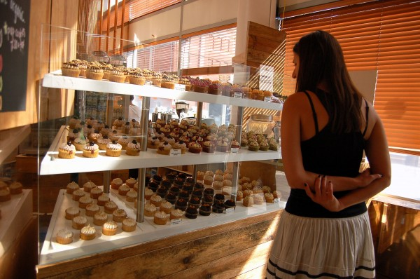 A woman looks over her options at H Bake Shop.(Courtesy of H Bake Shop)