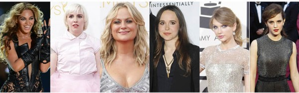 Some of the faces of 2014 feminism, from left to right: Beyoncé Knowles, Lena Dunham, Amy Poehler, Ellen Page, Taylor Swift and Emma Watson. (Lionel Hahn / Abaca Press/TNS; Apega/Abaca Press/TNS; Wally Skalij / Los Angeles Times/ TNS)