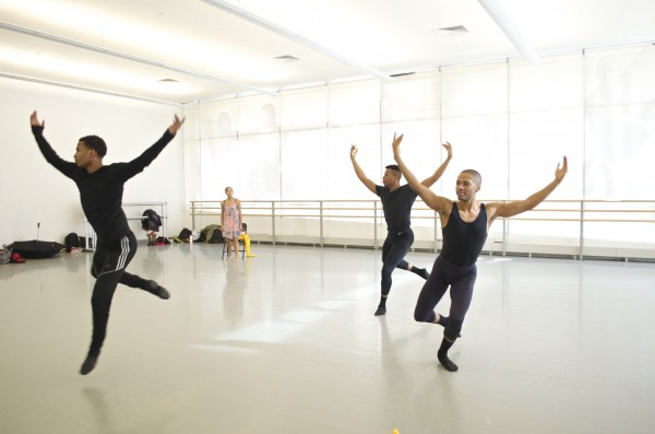 Students in the BFA/Fordham Ailey program prepare for the Global Harmony showcase.  (Paula Madero/The Observer)