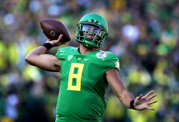 There may be questions regarding whether Marcus Mariota's skill set will translate to the NFL, but he is still a top prospect. (Joe Burbank/Orlando Sentinel via TNS)