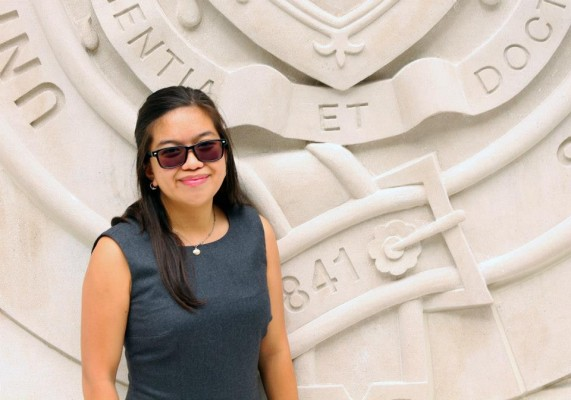 Outgoing USG President Louise Lingat, FCLC '15. (Tyler Martins/USGLC)