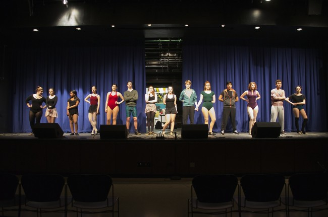 """On March 2, the Splinter Group performed """"A Chorus Line"""" in Fordham College at Lincoln Center's (FCLC's) Pope Auditorium. (Paula Madero/The Observer)"""