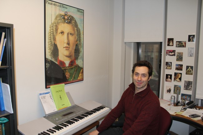 Matthew Gelbart, chair of the department of art history & music, looks forward to new music initiative. (Michelle QuinnThe Observer)