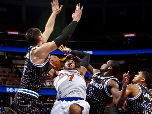 Carmelo Anthony should not have risked further injuries by continuing to play until the All-Star Game, even if it took place in New York this year. (Photo Courtesy of Jacob Langston/Orlando Sentinel via TNS )