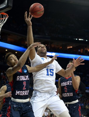 Freshman Jahlil Okafor is a strong candidate to be this year's no. 1 pick in the NBA Draft. (Courtesy of Jeff Siner/Charlotte Observer via TNS)