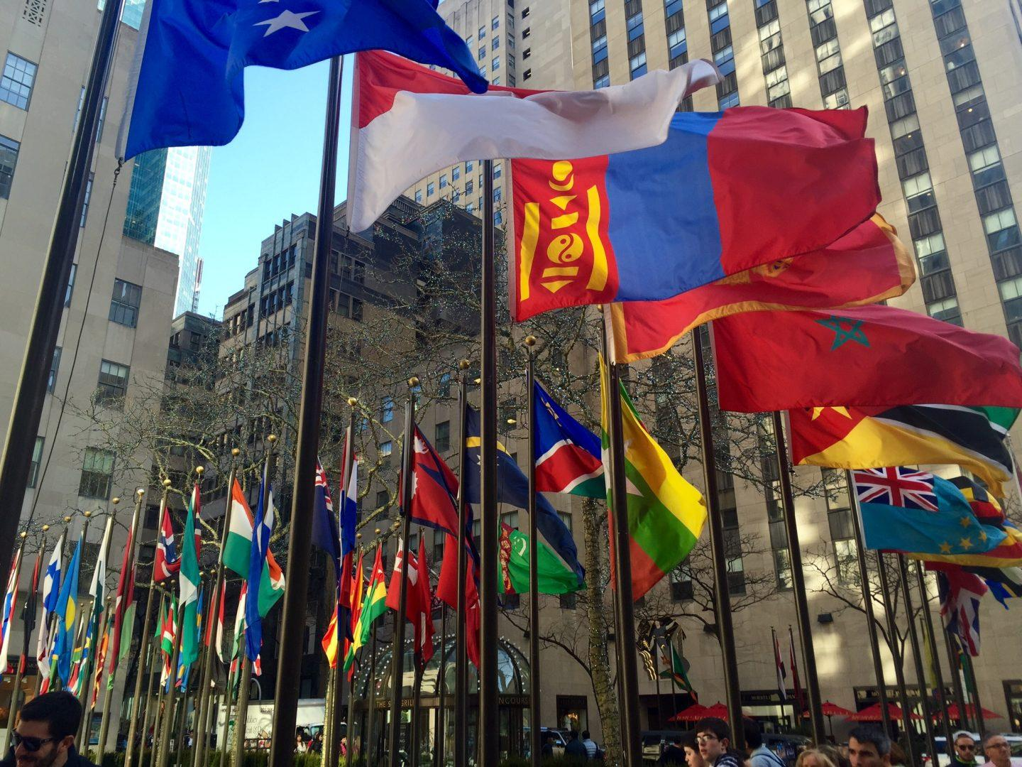 Flags of all nations at Rockefeller Center. (PHOTO BY Payton Vincelette/ The Observer)