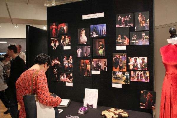 This display features the work of Anna Abowd, FCLC'15. (Photo by Jess Luszczyk / The Observer.)