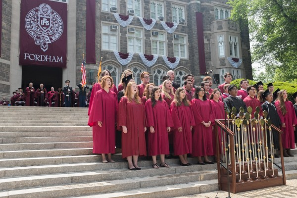 Fordham+University%27s+170th+commencement+was+held+at+the+Rose+Hill+Campus.+%28PHOTO+BY+JASON+BOIT%2FTHE+OBSERVER%29