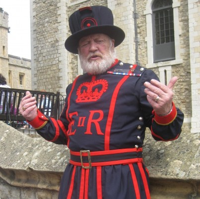 George The Yeoman Warder at The Tower of London (PHOTO COURTESY OF MARISSA SBLENDORIO)