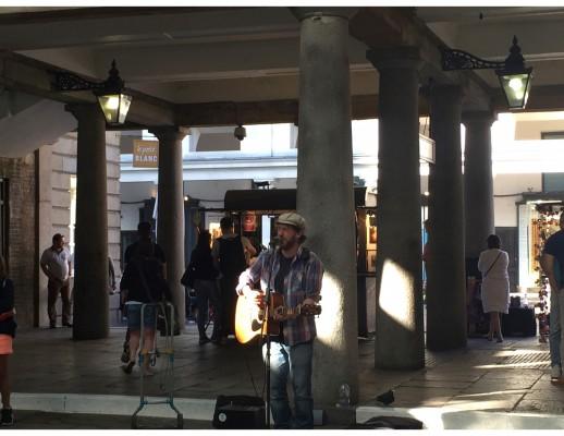 Rob Falsini in the Covent Garden Market (PHOTO COURTESY OF NANOR HARTOUNIAN)