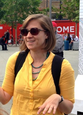 Sarah Goldsmith talks about her life in London. (PHOTO COURTESY OF SYDNEY THORNELL)