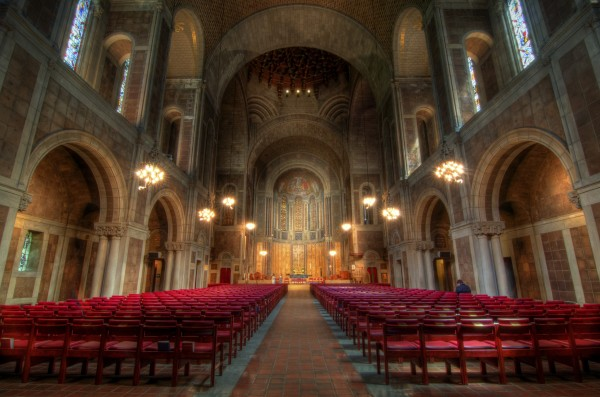 St. Bartholomew's  Episcopal Church in Midtown Manhattan where the marriage took place. (PHOTO VIA FLICKR)