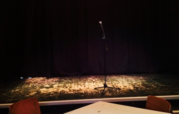 Performance stage at The Spark, London's storytelling club (PHOTO COURTESY OF BAILEY BARNETT)