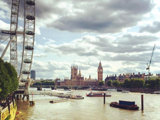 View of Big Ben and the London Eye (PHOTO COURTESY OF ERIN CAHILL)
