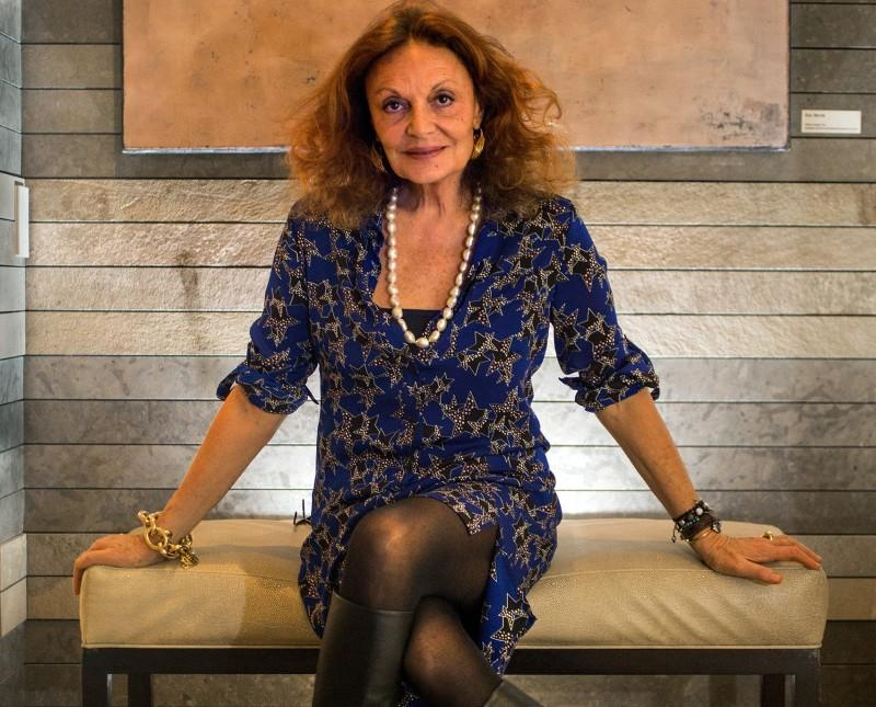 Diane von Furstenberg poses for a portrait on Nov. 13, 2014 at the Four Seasons hotel in Seattle. Von Furstenberg has finished a book about her mother, a Holocaust survivor, and continues to head a non-profit on female empowerment. (Mike Siegel/Seattle Times/TNS)