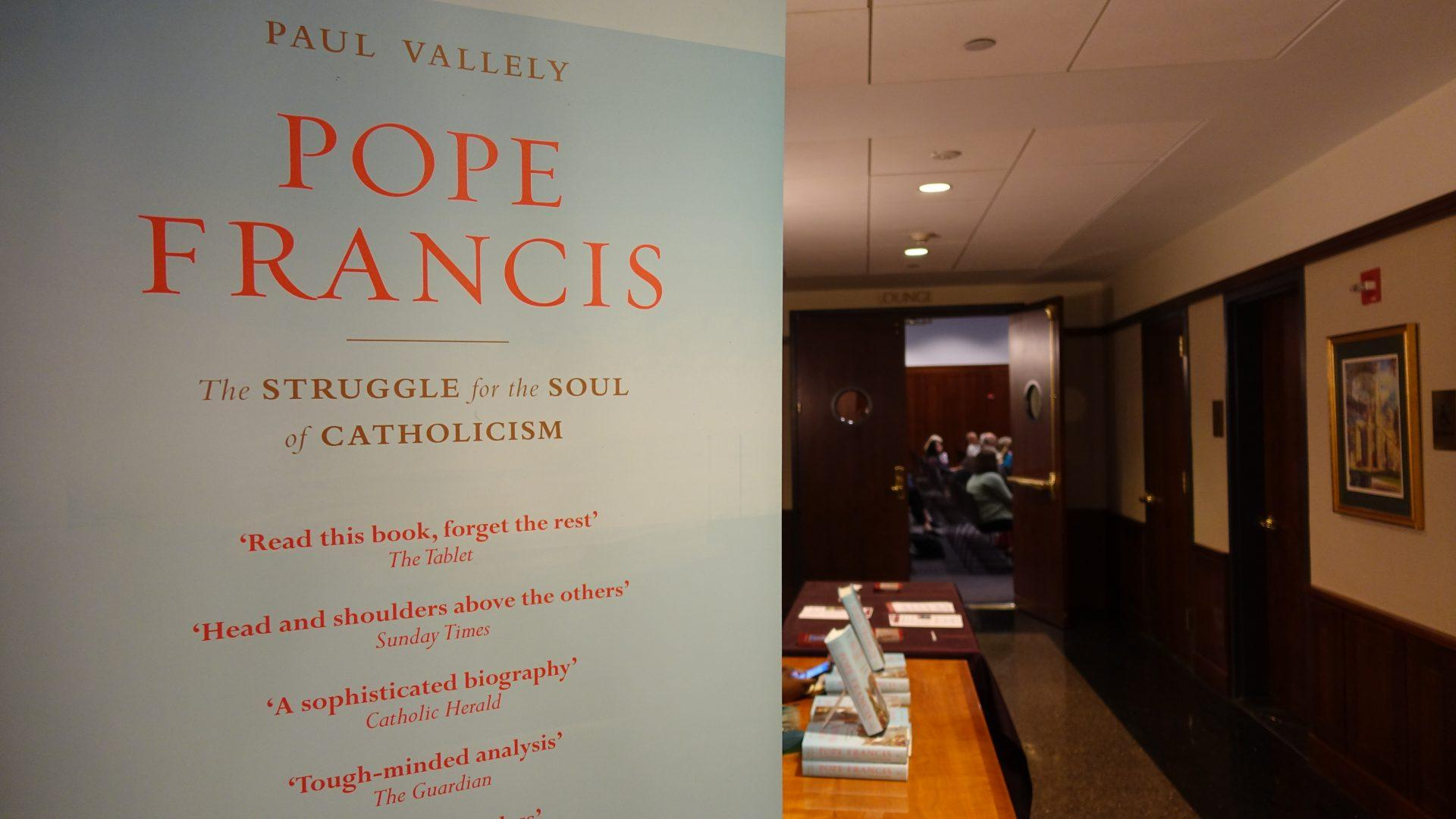 Fordham hosted a talk with Paul Vallely, an ethics writer, who has published two biographies of Pope Francis. (ANA FOTA/THE OBSERVER)