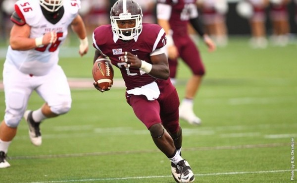 Chase Edmonds, Fordham's starting running back, is one of the best in the Football Championship Division. (ERIC DEARBORN/COURTESY OF FORDHAM SPORTS)