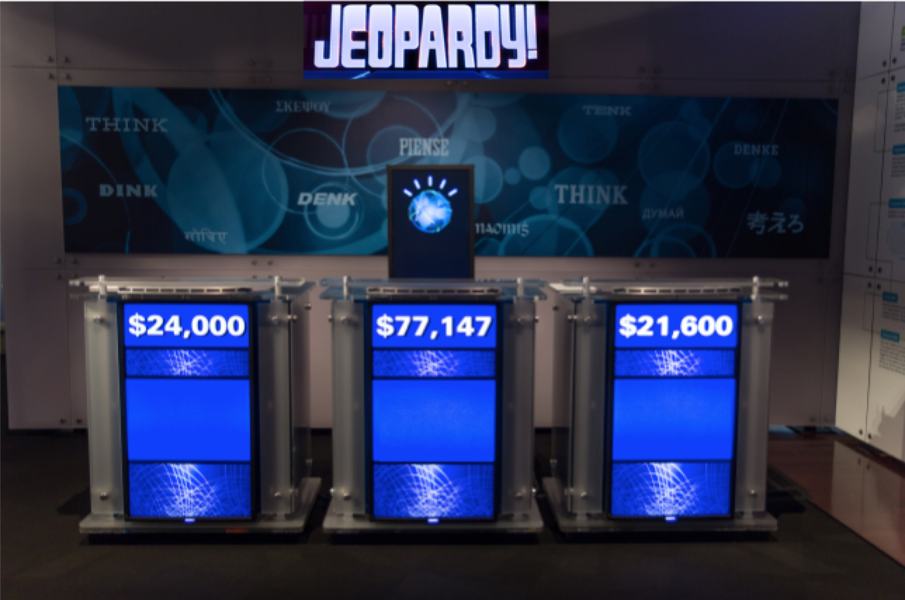 The three podiums from the TV show Jeopardy!, in which Fordham alumnus, Dennis Golin appeared on for the third time on October 23rd. (COURTESY OF ATOMIC TACO VIA FLICKR)
