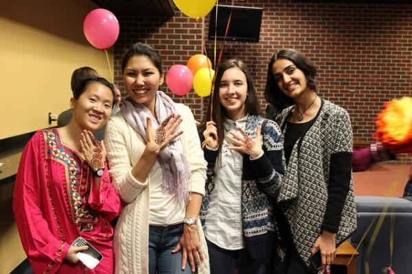 Featured above are members of MSA celebrating Eid al-Adha in the student lounge on Oct. 1. (PHOTO BY ZANA NAJJAR/THE OBSERVER)