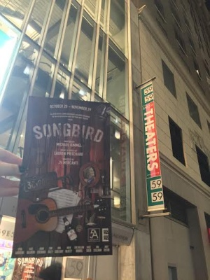 Songbird is playing at the 59E59 Theatre until Nov. 29. (PHOTO BY LYDIA BENNER/THE OBSERVER)