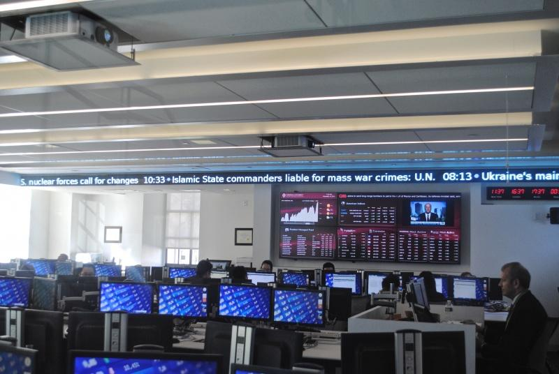Pictured above are the Bloomberg terminals at Rose Hill. (TESSAVAN BERGEN/ OBSERVER ARCHIVE)