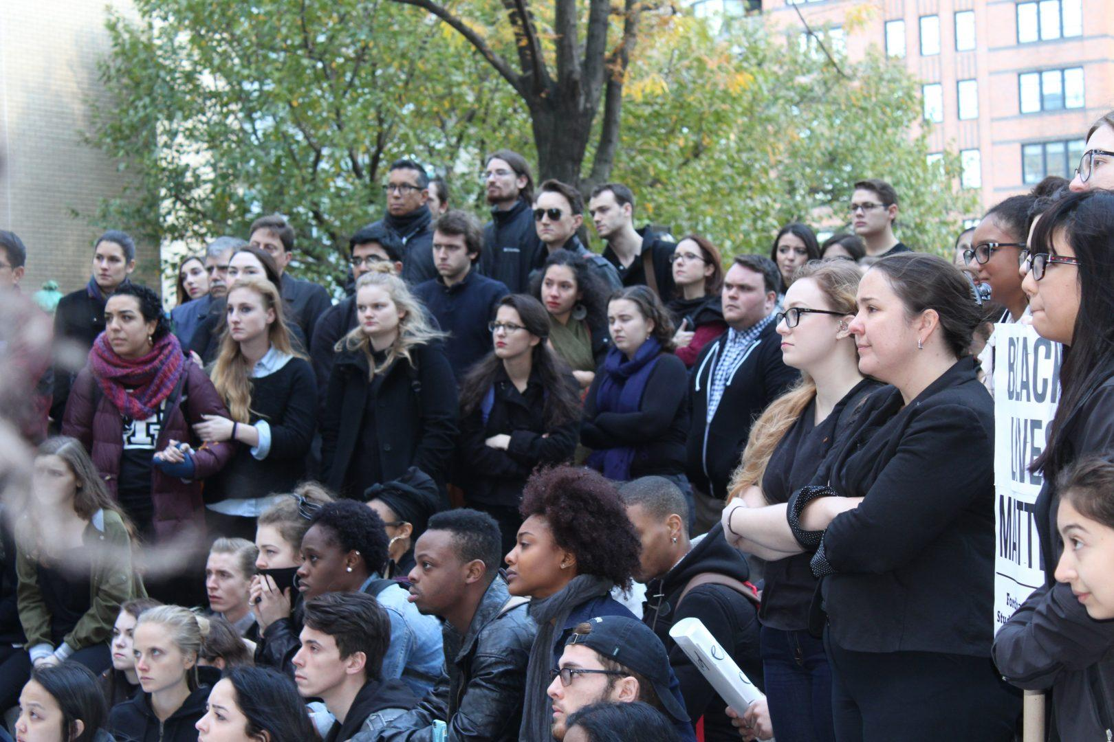 There were a large number of administrators and student leaders in attendance at the event. (CONNOR MANNION/THE OBSERVER)