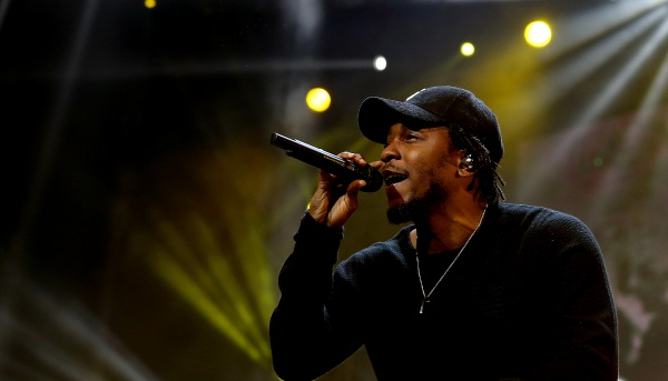 Kendrick Lamar performs during the BET Experience at Staples Center on June 27, 2015 in Los Angeles. (Luis Sinco/Los Angeles Times/TNS)