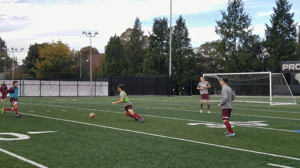 The Ram's soccer team practices in preparation for the Atlantic-10 Tournament (PAOLA JOAQUIN ROSSO/THE OBSERVER).