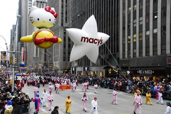 Thousands of people packed 6th Avenue in New York City to watch marching bands, colorful floats and celebrities march along in the Macys Thanksgiving Day Parade on Nov. 27, 2014. (Roy Caratozzolo III/TNS)