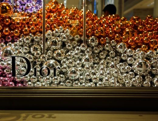 Stores such as Dior (SoHo location) have holiday decorations up in their windows. (Hana Keiningham/The Observer)