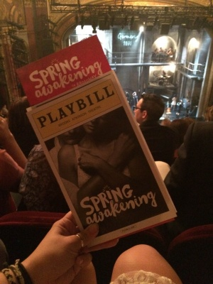 Spring Awakening finished its limited engagement at the Brooks Atkinson Theatre on Jan. 24, 2016. (OONA MURLEY/THE OBSERVER)