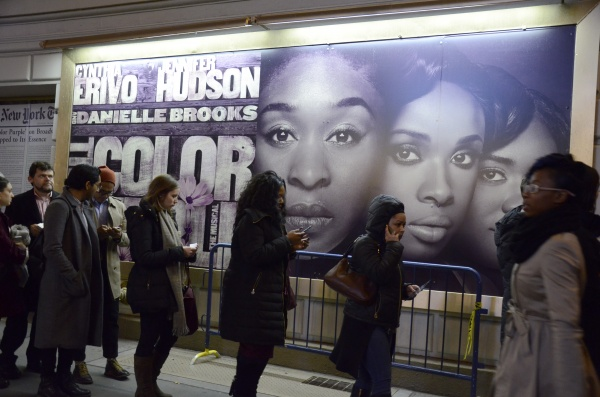Broadway goers wait in line to see the classic musical. (PHOTO BY ANDRONIKA ZIMMERMAN/ THE OBSERVER)