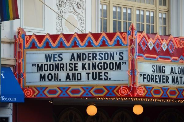 A special screening of Moonrise Kingdom is shown at a theater. (PHOTO COURTESY OF STEVE RHODES VIA FLICKR)