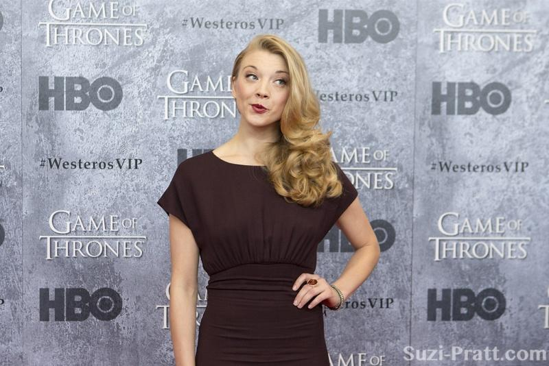 Game of Thrones actress Natalie Dormer poses on the HBO red carpet. (via Flickr)