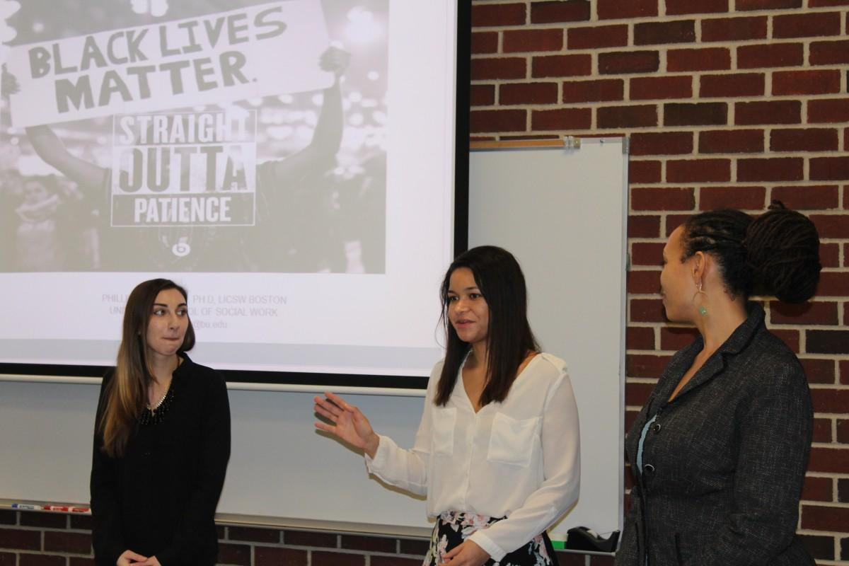 Members of the Dorothy Day Center for Service and Justice (DDCSJ) at a Saturday event that discussed the Black Lives Matter movement.  (CONNOR MANNION/THE OBSERVER)