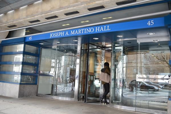 Martino Hall was named for a long time vice president and co-founder of Fordham Lincoln Center (ELIZABETH LANDRY/THE OBSERVER)