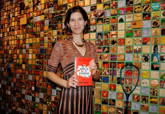 Idra Novey at her book launch of