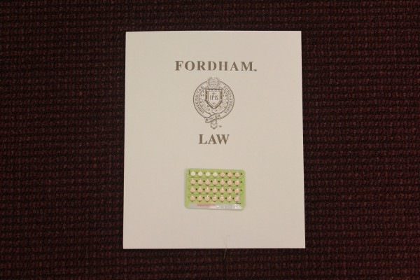 The Fordham Law School is taking part of Prescribe Fordham, an awareness campaign for students in favor of reproductive justice. The event will be held on John Jay College on Wednesday March 9th, 2016. (PHOTO BY SOFIA ALVAREZ/ THE OBSERVER)