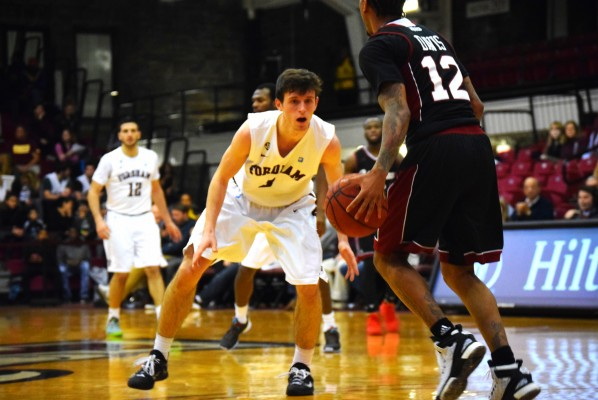Fordham currently holds the eighth seed in the Atlantic-10 basketball tournament. (ANDREA GARCIA/THE OBSERVER)